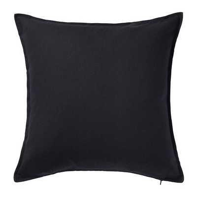 "GURLI Cushion cover, Black - 20""x20"" - Insert Sold Separately - Ikea"