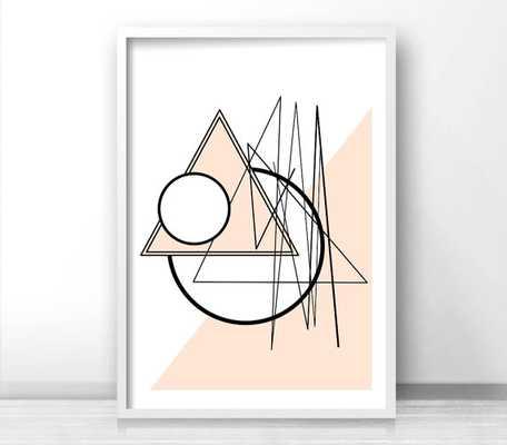 Abstract Geometric Wall Art Print, - Unframed - Etsy