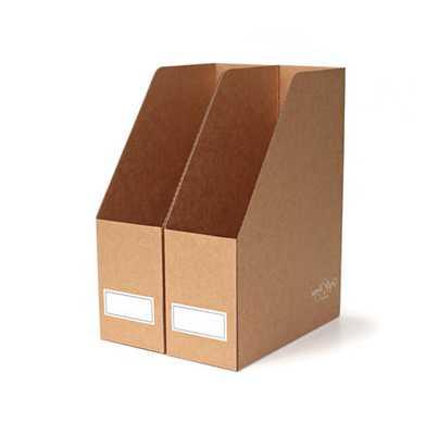 2 x Kraft file boxes - Etsy