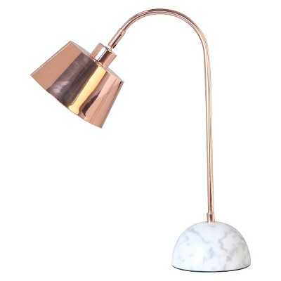 "Copper Desk Lamp with Marble Base -Thresholdâ""¢ - Target"