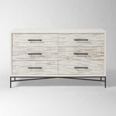 Wood Tiled 6-Drawer Dresser - West Elm