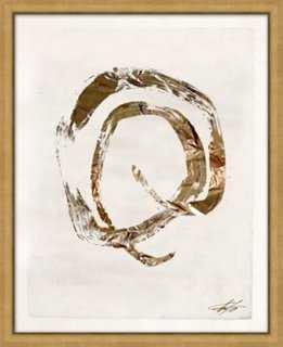 "Filicia, Shut the Door Gold III - 17.25"" x 21.25"" - Framed (Gold ) - One Kings Lane"