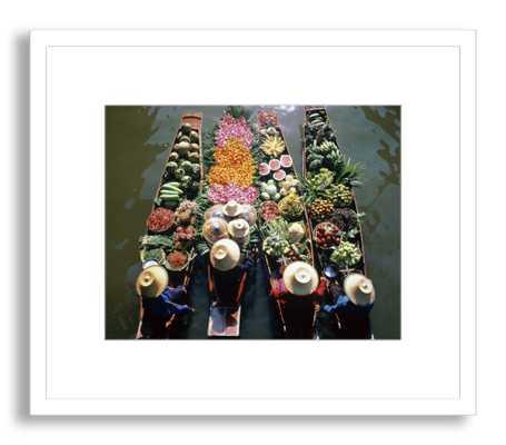 Thailand Floating Market-30 x 35-Framed - Domino