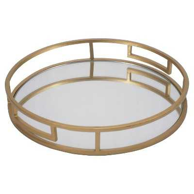 Gold Mirrored Tray - Target