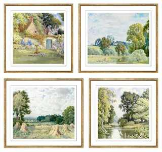 S/4 Walford Watercolour Collection framed - One Kings Lane