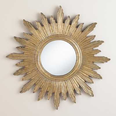 Large Antique Gold Leila Sunburst Mirror - World Market/Cost Plus