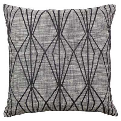 """Threshold Faceted Embroidered Pillow - 18""""SQ - Domino"""