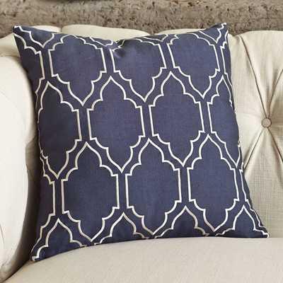 """Lacey Linen Pillow Cover - Navy - 18"""" x 18"""" - No Insert - Wayfair"""