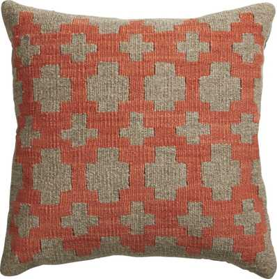 "Two plus grey 16"" pillow - Buckwheat fill insert - CB2"