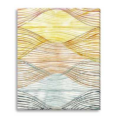Sarah Campbell Canvas Print-Vivid Waves 34x42 unframed - West Elm