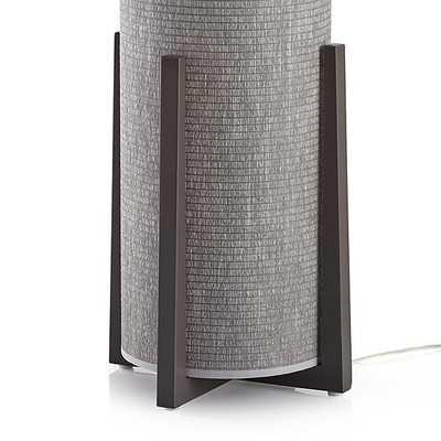 Weave Greige Floor Lamp - Crate and Barrel