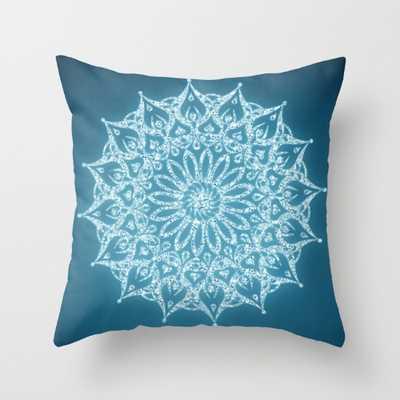 "Zen Mandala (Serenity) Pillow - 18""Sq. - Down Insert - Society6"