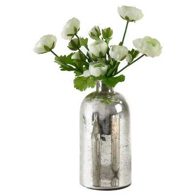 "Silver Mercury Glass Bottle - 10""x5.25"" - Target"