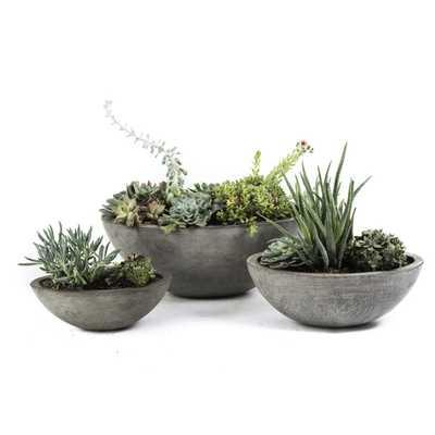 Set of 3 Eco-concrete Yano Planter - Overstock