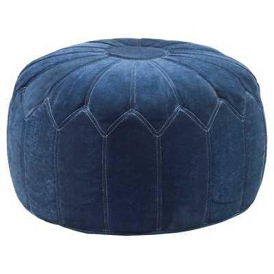 Kelsey Round Pouf Ottoman Blue - JLA Home - Target
