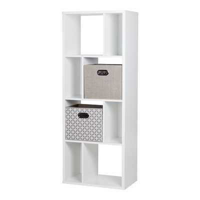 South Shore Reveal 8-Cube Shelving Unit with 2 Fabric Storage Baskets - Overstock