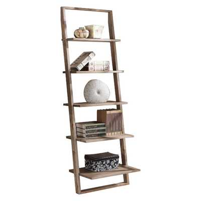 "Lean Living 72"" Leaning Bookcase - Wayfair"