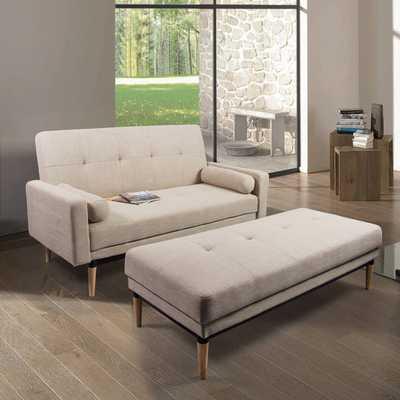 Corvus Leyla Mid-century Style Sofa Mid-century Style Bed with Bench - Overstock