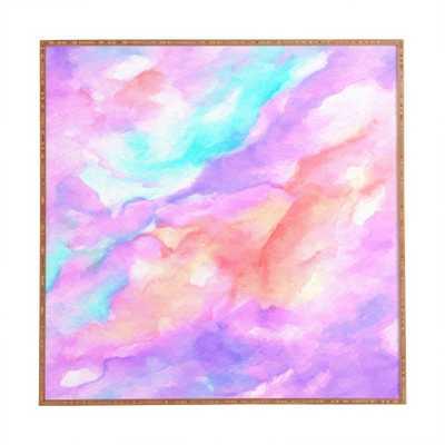 """LAVENDER HAZE Framed Wall Art - 30"""" x 30"""" - Satin finish frame - No Mat - Wander Print Co."""