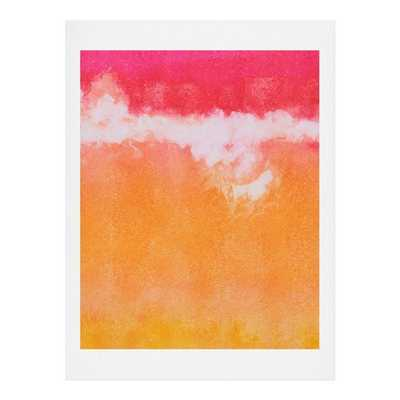 Tangerine Tie Dye Painting Print - 10x8 - AllModern
