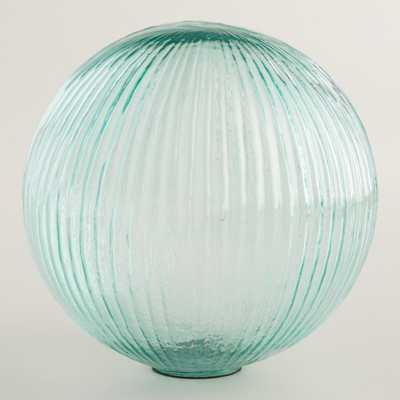 Large Teal Glass Sphere Decor - World Market/Cost Plus