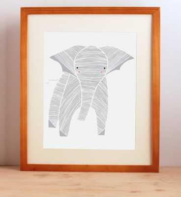 Safari Elephant Art Print - unframed - Etsy