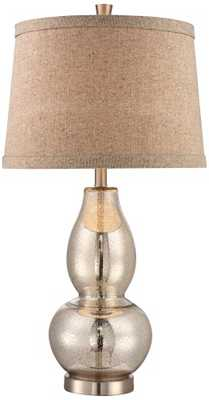 """Double Gourd 30 1/2"""" High Mercury Glass Table Lamp - Lamps Plus"""