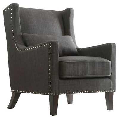 Inspire Q Murray Wingback Arm Chair - Dark Grey - Target