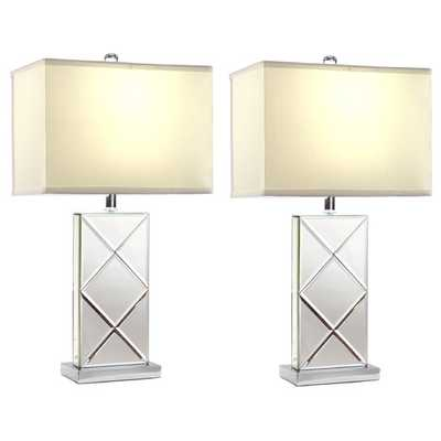 """Rory 25"""" H Table Lamp with Rectangular Shade - AllModern"""