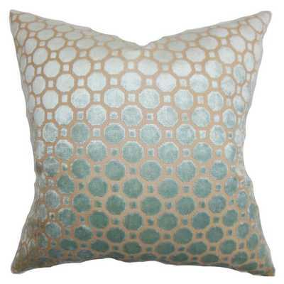 """Alton Throw Pillow, Mineral - 18""""x18"""" - Down/Feather - Wayfair"""