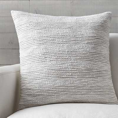 """Tess 23"""" Pillow with Down-Alternative Insert - Crate and Barrel"""