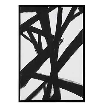 Smoldering Tracks 2 - 25.5''W x 37.5''H - Framed (Champagne) - no mat - Z Gallerie