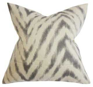 Animal 18x18 Cotton Pillow, Brown - Feather/down insert - One Kings Lane
