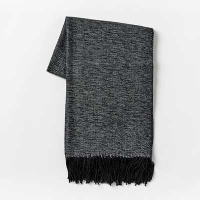 Warmest Throw - Yarn Dyed-Black - West Elm