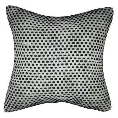 Two Shade Yarn Dyed Texture Pillow Black- 18 L x 18 W- Polyester fill insert - Target