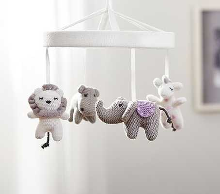 Knit Animal Friends Crib Mobile - Pottery Barn Kids