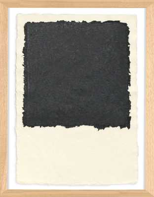"""HANDMADE PAPER COLOR THEORY 2; BLACK - 15"""" x 20"""" - Framed - Natural Curiosities"""