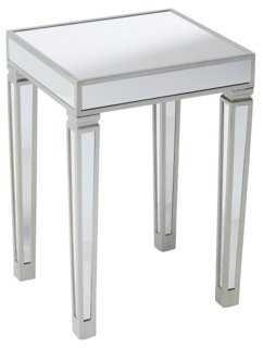 Lisa Mirrored Side Table - One Kings Lane