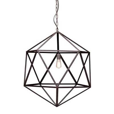 Zuo Amethyst Ceiling Lamp Large - Rust - Target
