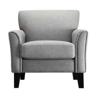TRIBECCA HOME Uptown Modern Accent Chair-Gray Linen - Overstock