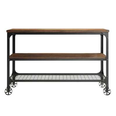TRIBECCA HOME Nelson Industrial Modern Rustic Console Sofa Table TV Stand - Overstock