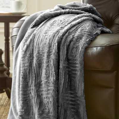 Ouasse Luxury Throw Blanket - Pearl Blue - Wayfair