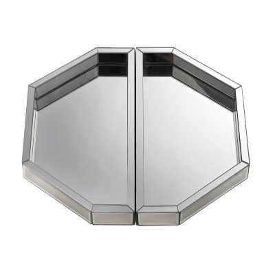 Set of two mirrored trays - Rosen Studio