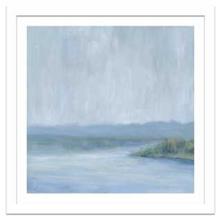 "Soicher Marin, Misty Blue Landscape - 26.5"" x 26.5"" - Framed - One Kings Lane"