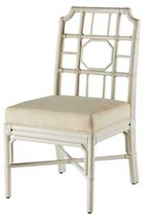 Regeant Side Chair, White - One Kings Lane