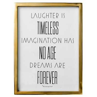 Laughter is.. Gold Framed Wall Art - 15.75 H x 11.75 D - Target