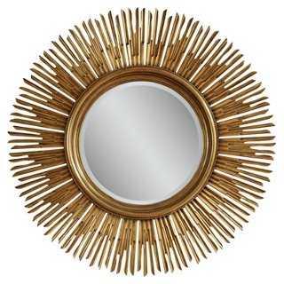 "48"" Sunburst Mirror, Gold - One Kings Lane"