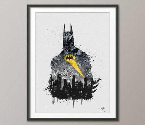 GOTHAM Batman Watercolor Painting -11.70''x 16.55''-Unframed - Etsy