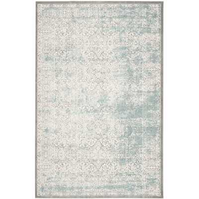 """Passion Turquoise/Ivory Area Rug by One Allium Way - 8"""" x 11"""" - Wayfair"""