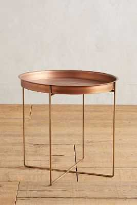 Kapona Tray Table - Copper - Anthropologie